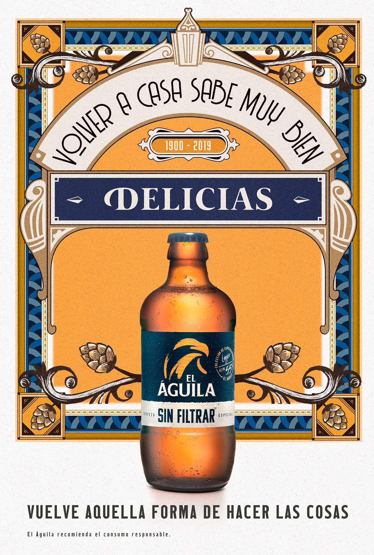 Illustration for brand El Águila by Sr.Reny