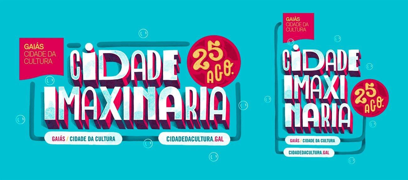 Lettering for Cidade Imaxianria 2018 by Sr.Reny