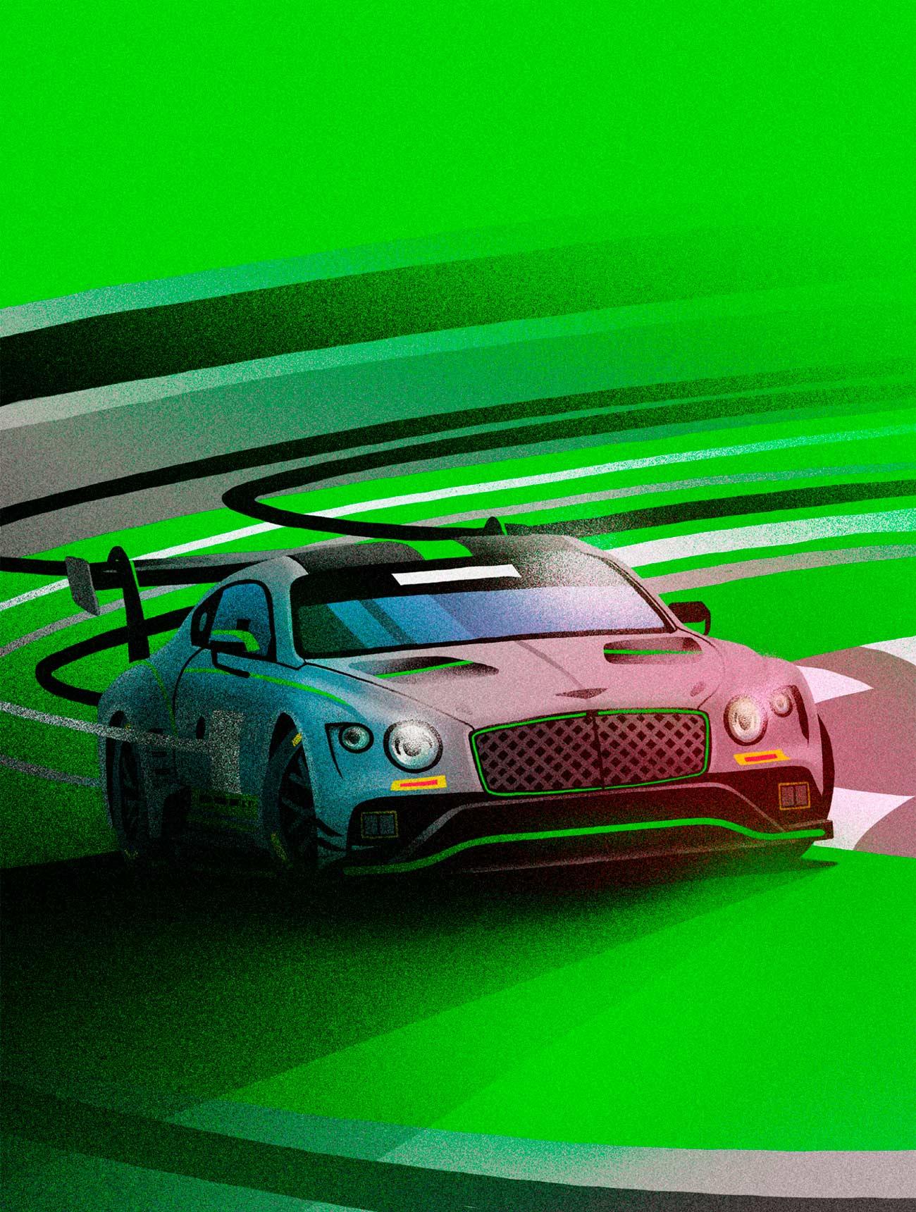 Illustration Bentley GT3 by Sr.Reny