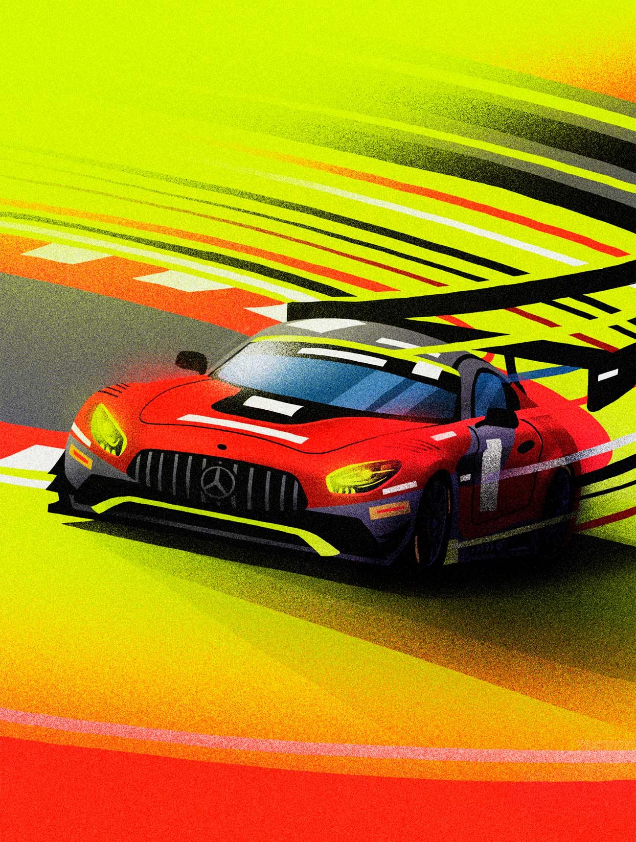 Illustration AMG GT3 by Sr.Reny