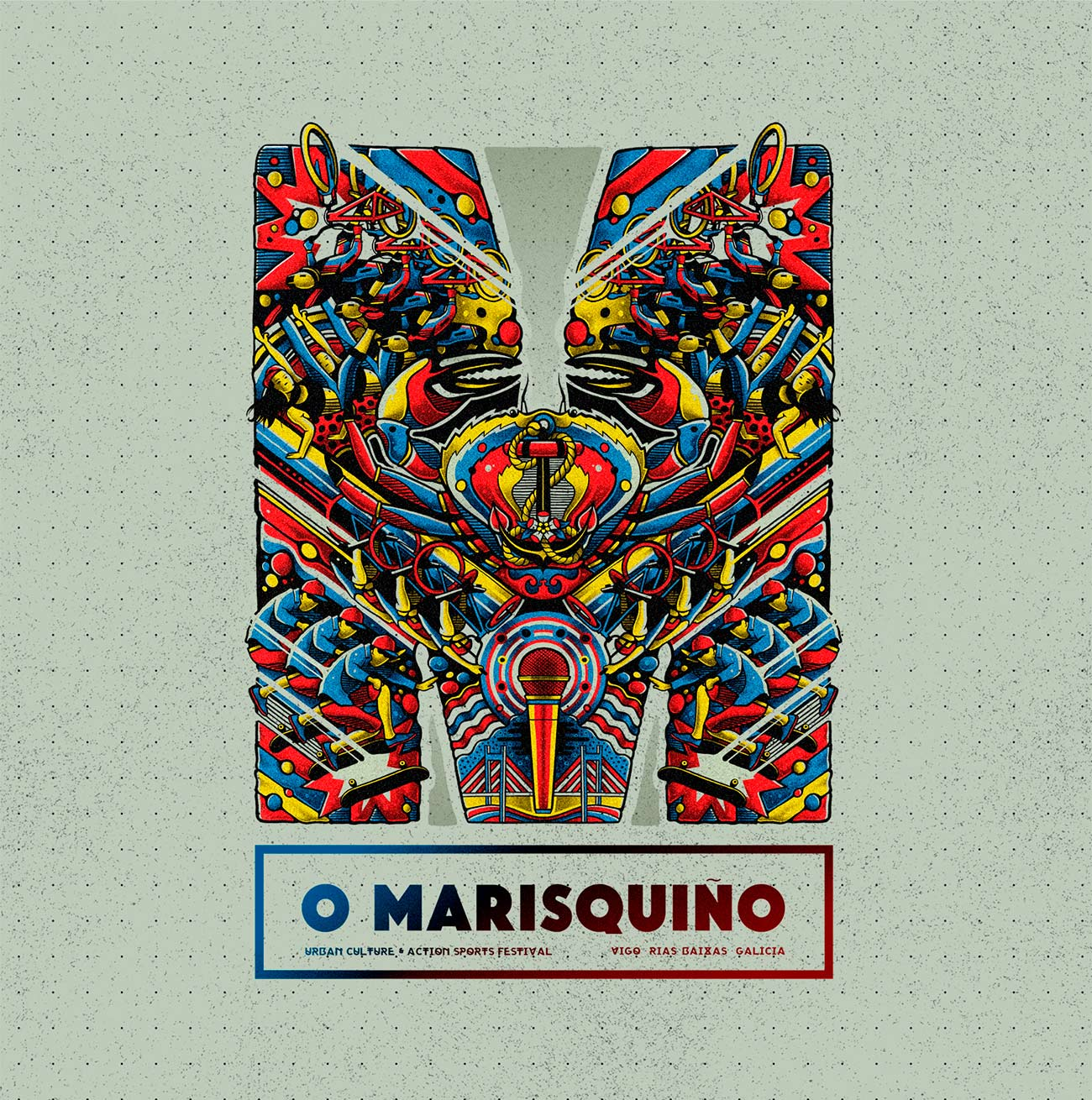 Illustration O Marisquiño skate event by Sr.Reny