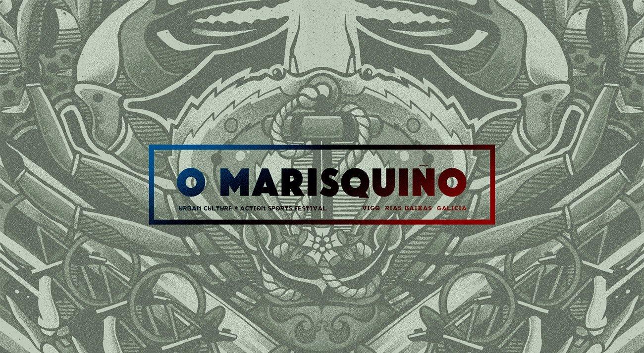 Logo O Marisquiño skate event by Sr.Reny