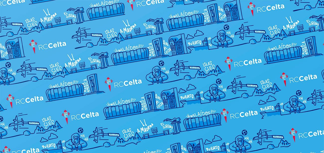 Paper wrap illustration for RcCelta by Sr.Reny