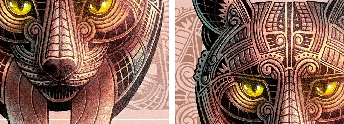 Detail lynx illustration by Sr.Reny