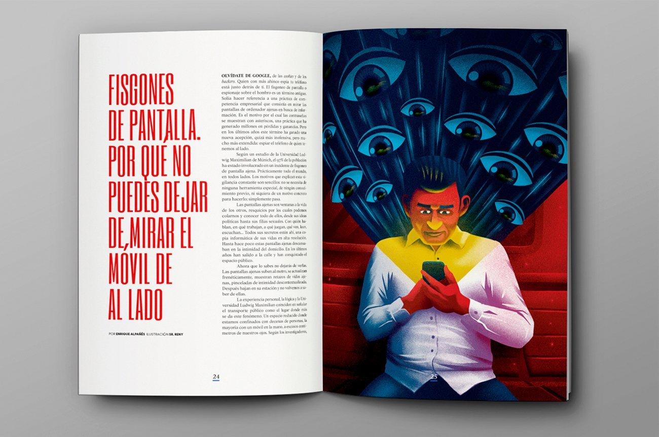 Illustration for Yorokobu Magazine by Sr.Reny