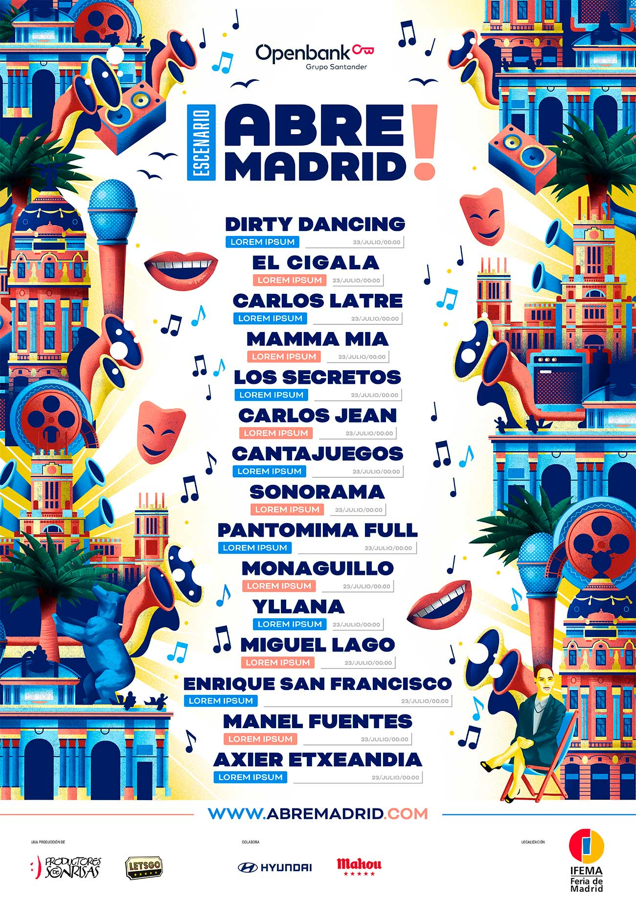 Poster design artists for Abre Madrid by Sr.Reny