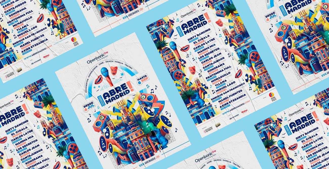 Mock Up poster design for Abre Madrid by Sr.Reny