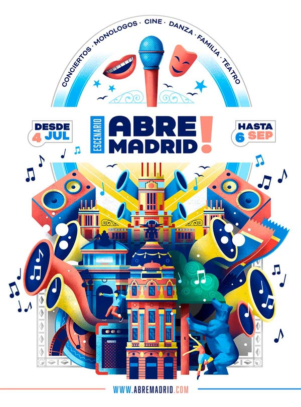 Poster design for Abre Madrid by Sr.Reny